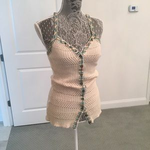 Knitted tank top. New without tags